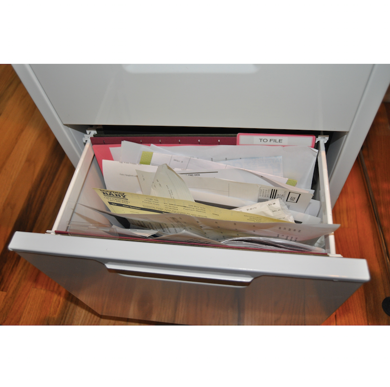 Brooke Ruder, filing, home filing, filing drawers, home organization, professional organizers, Chicago,