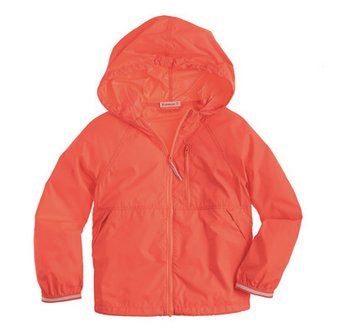 JCrew, Crewcuts, jacket, orange jacket, wind breaker, boys jacket, girls jacket, back to school, unisex jacket, hooded jacket, kids jacket