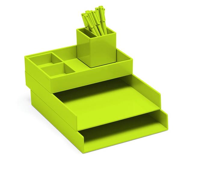 poppin, design ideas, storage ideas, bright desk accessories, green desk accessories, cool ideas, modern office spaces, modern desk ideas, green organizers