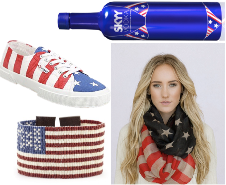 4th of July, Fourth of July, American Flag, Stars and Stripes, American, USA, American pride, american flag scarf, american flag bracelet, american flag shoes, skyy vodka, lspace swim vodka, lspace, lspace swim, american flag swimsuit