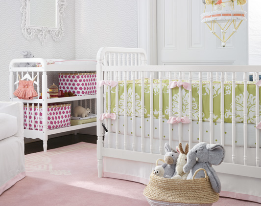 serena and lily, serena & lily, cute nursery, girls nursery, baby crib, baby bedding, changing table, baskets for nursery, cute baskets for nursery