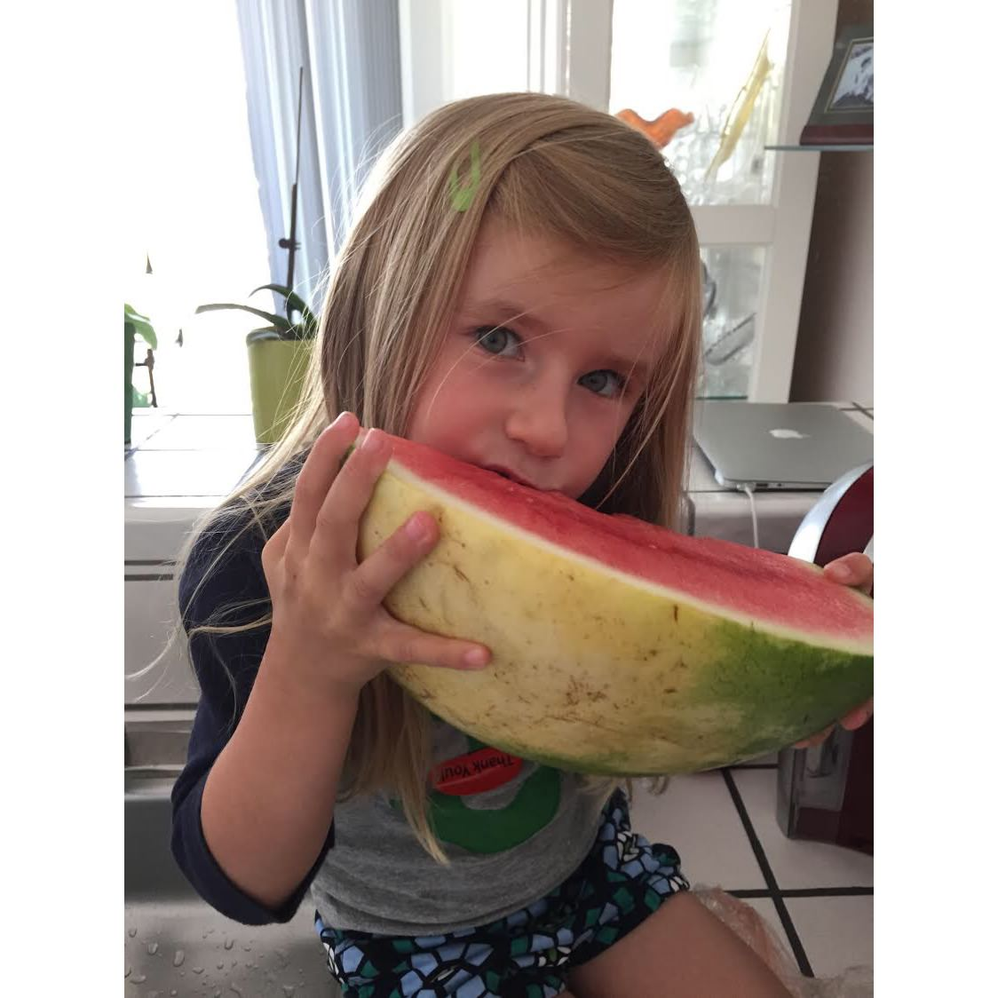 Lisa Ruff, San Francisco, Little girl, watermelon, summer, fruit,