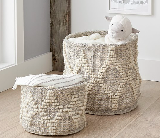 toy storage, playroom ideas, natural baskets, organic baskets, baskets, organizing, neat method, professional organizers, home organizing