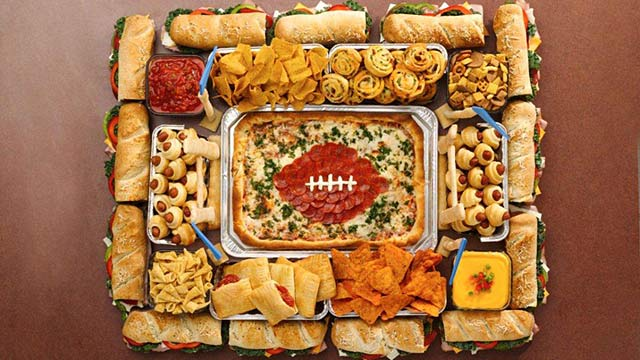 super bowl party ideas, party platter, organized party