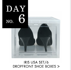 shoe storage, iris, plastic bins, organizational products, free products, giveaway, the organizing store, professional organizers, neat method, tips