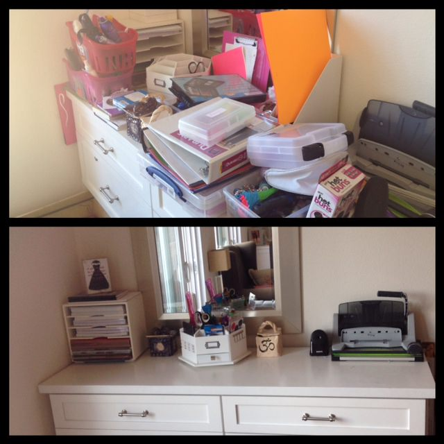 San Diego, Organized, Katie Koentje, white dresser, before and after