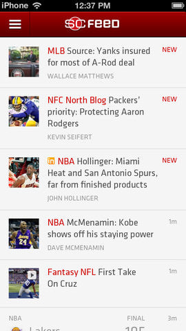 ESPN Sports Center Feed, ESPN Sports Center Feed app, espn app, baseball app, sports app, mlb app, major league baseball, major league baseball app, apps for guys