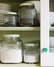 Etched Jars, Martha Stewart, DIY