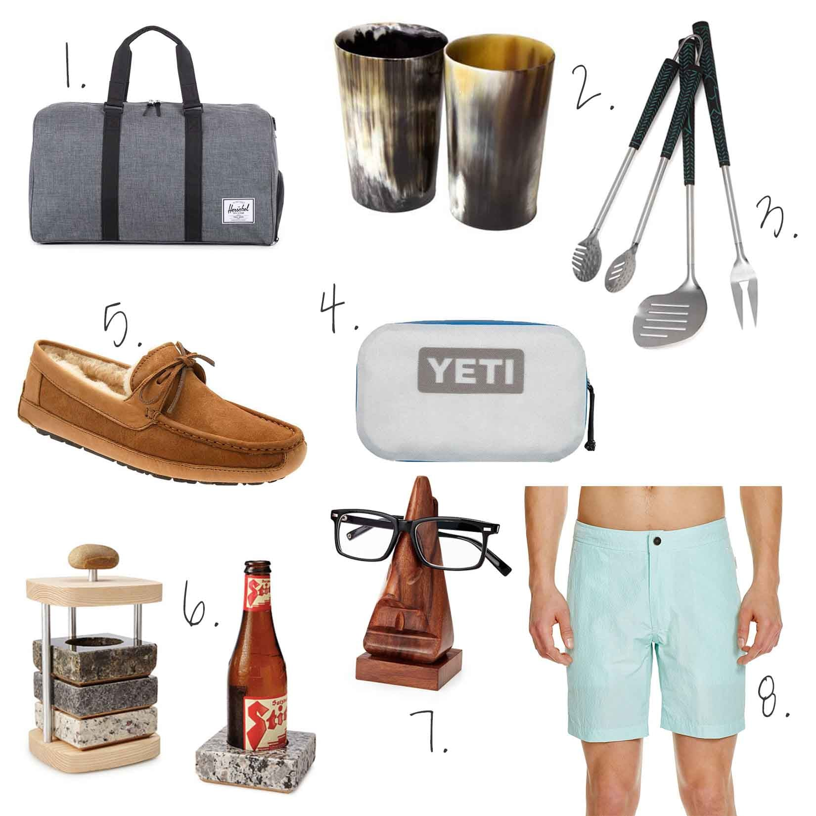 Father's Day, Gift Guide, NEAT Method, Dad, Yeti, Onia, Herschel duffle, ugg slippers, grill tools