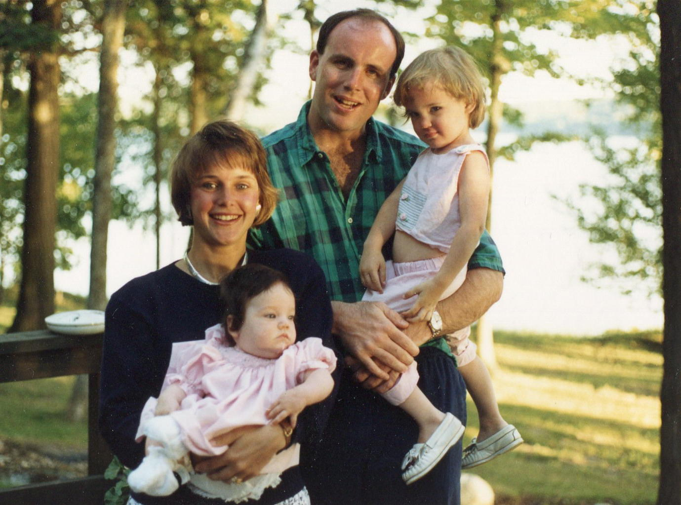 John Gilligan, Heather Gilligan, Lisa Gilligan, Kerry Gilligan, Heather Byrne, woods, cabin, Walloon Lake, Michigan, Walloon