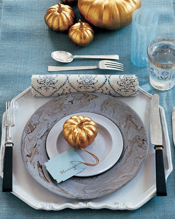Thanksgiving Table setting, table,
