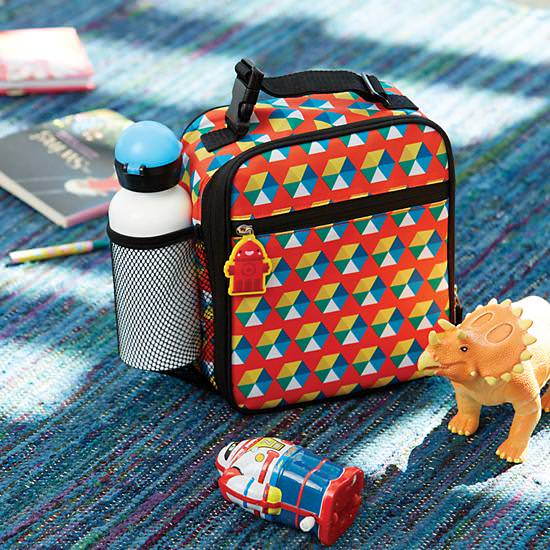 lunch box, geometric lunch box, unisex lunch box, functional lunch box, land of nod, lunch cooler, back to school,