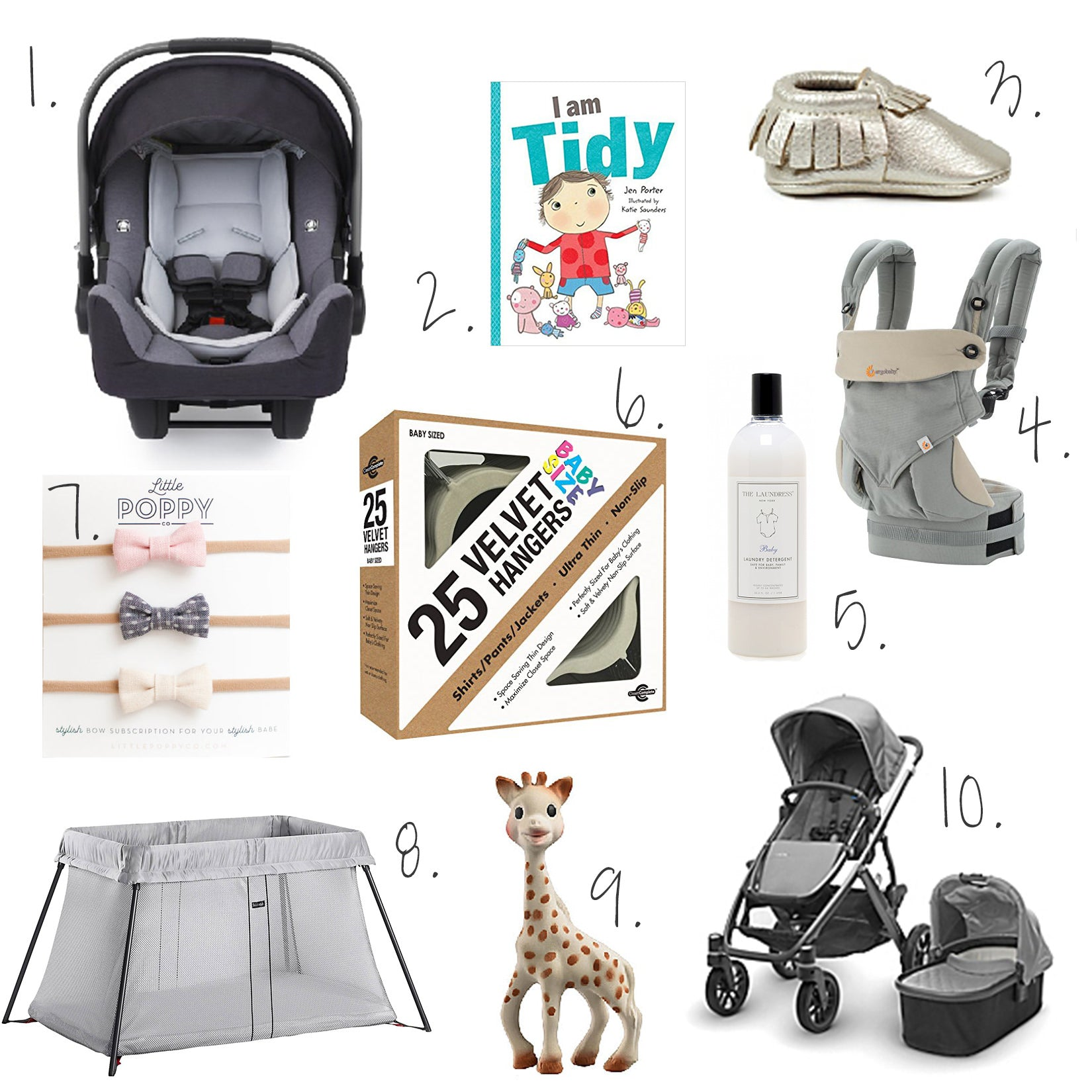 baby, registry, neat method, marissa hagmeyer, nuna pipa, uppababy, baby bjorn, ergobaby, freshly picked, the laundress