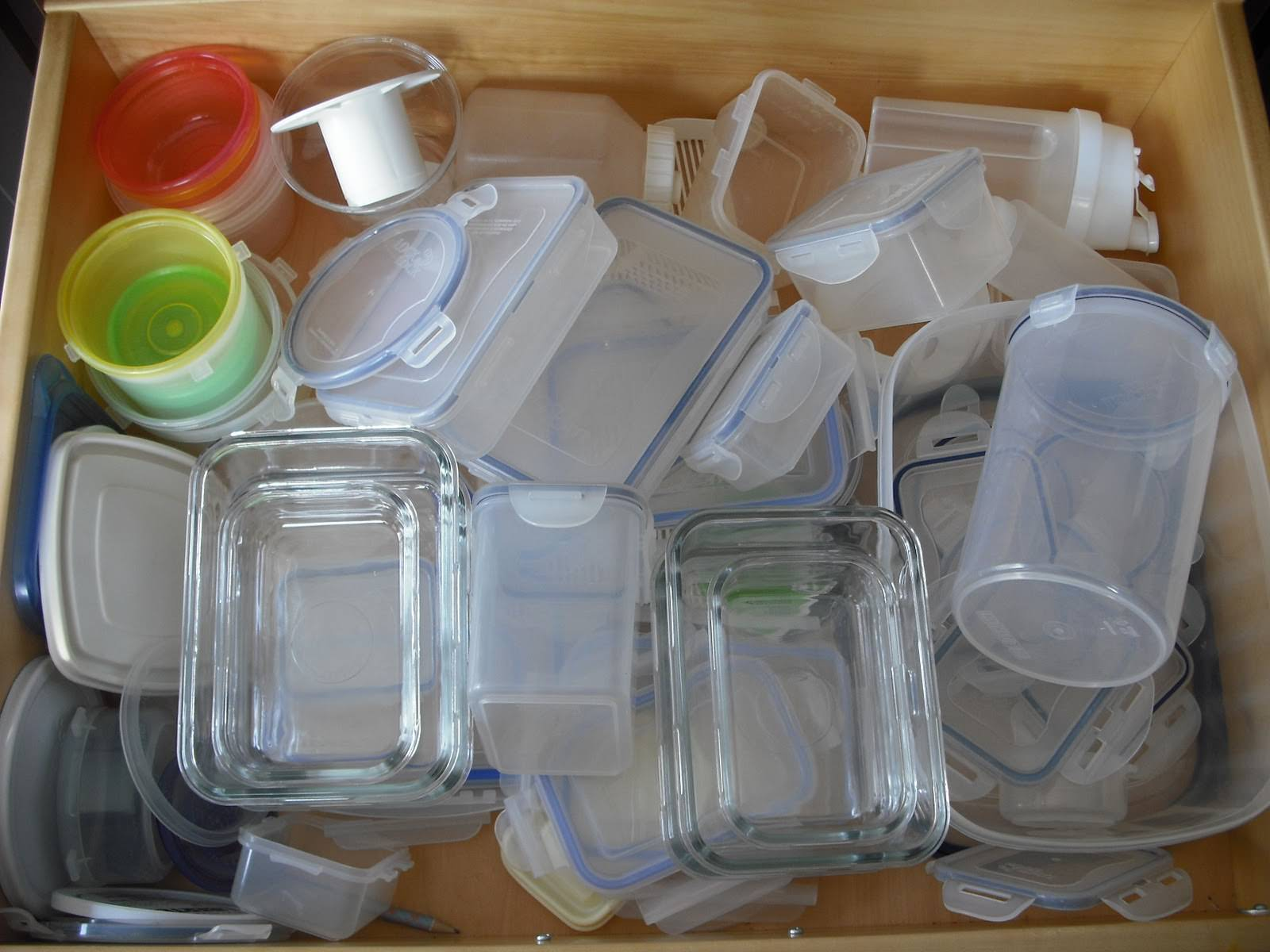 messy tupperware, messy kitchen, messy
