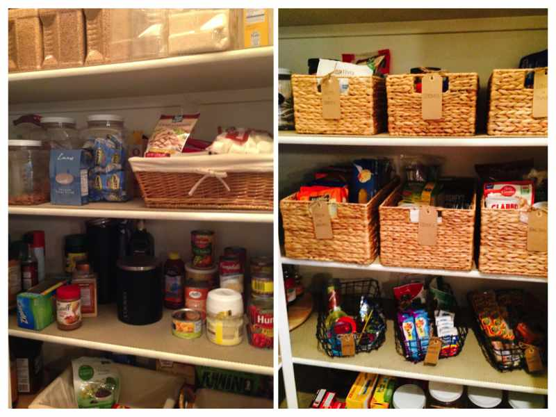 mika perry, neat method, neat scottsdale, scottsdale, home organizer, home organizer scottsdale, before and after kitchen picture, pantry, walk in pantry, organized pantry, pantry baskets