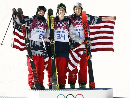 Gus Kenworthy, Joss Christensen, Nicholas Goepper, USA Mens olympic ski tea, USA olympic winners, usa mens winter olympics slope style ski team, sochi olympic winners, sochi slope style usa ski team