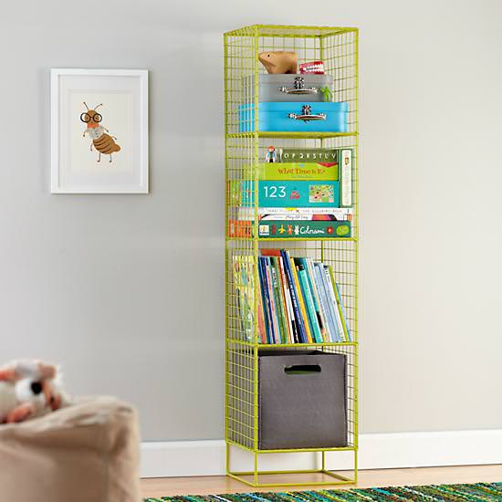 how to organize games, how to organize board games, board game organization, game organization, how to organize games, land of nod, land of nod shelving, land of nod shelf, land of nod lime green shelf