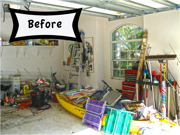 Messy garage, Monkey Bar, garage organizing, organization, garage, summer, kayak, summer toys, kids toys