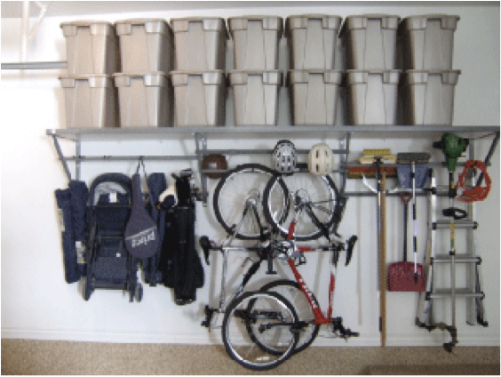 chicago, san francisco, south florida, twin cities, washington dc, san diego, Neat method, monkey bar storage, bike, bicycle, organizing, garage storage, garage clean out, organized garage