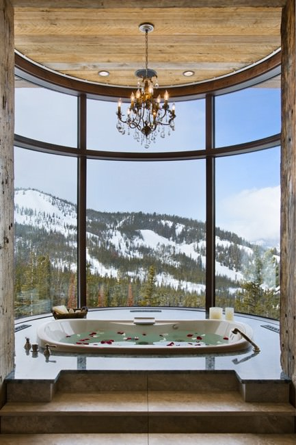 Mountain Bathroom, large bathroom, modern bathroom