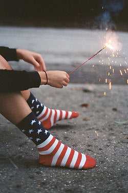 4th of July, Fourth of July, American Flag, Stars and Stripes, American, USA, American pride, american flag socks, sparklers, american flag, stars and stripes, summer