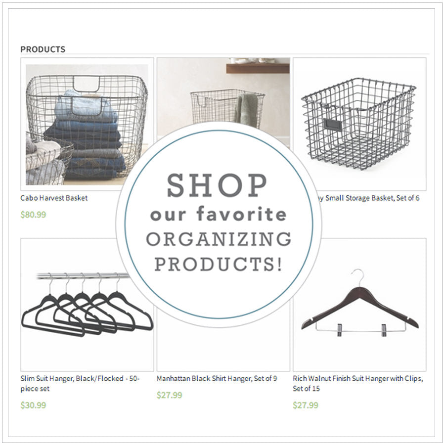 neat, neat method, the organizing store, organizing store, organizational solutions, baskets, wire baskets, hangers, black slim line hangers, home organizers, professional organizers