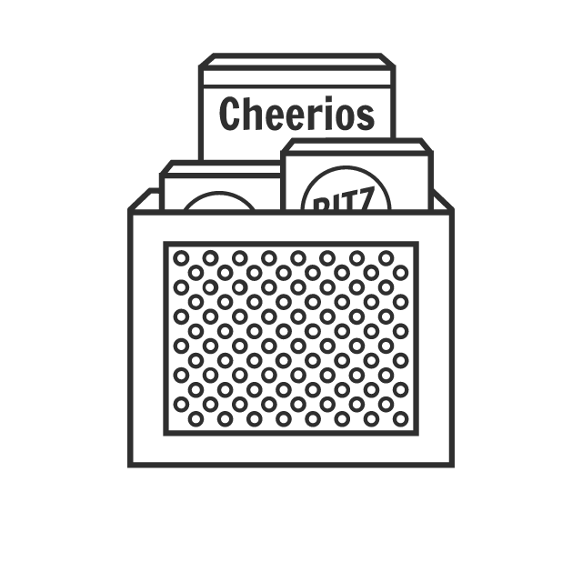 Storing cereal or crackers