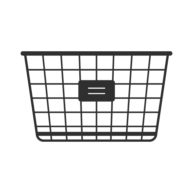 Labeling mail in a wire basket