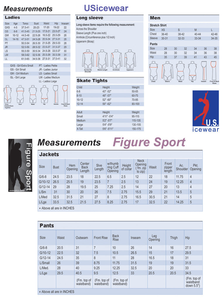 U.S. Icewear Measurement