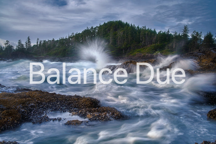 Balance Due -Vancouver Island - VisionQuest Photography Workshop