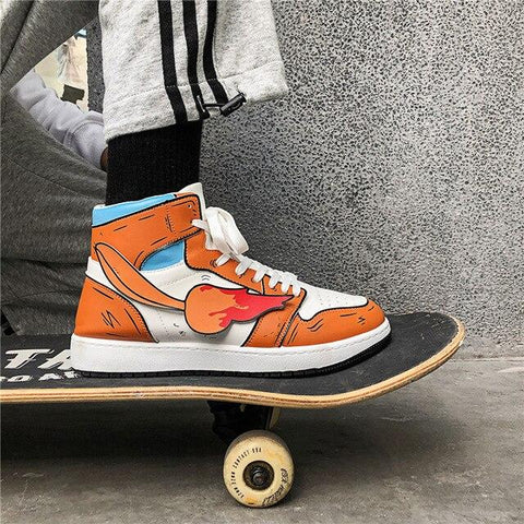 """CHARMANDER"" HIGH-TOP SNEAKERS"