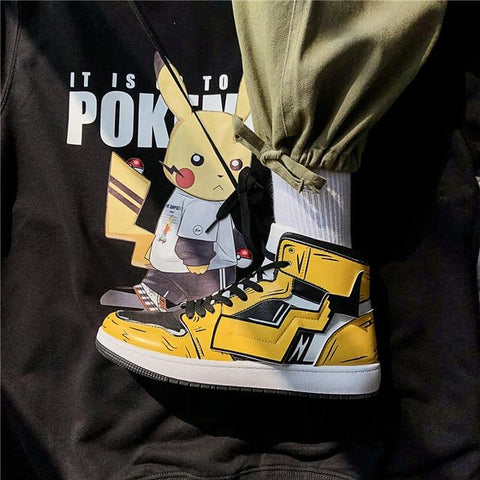 """PIKACHU"" HIGH-TOP SNEAKERS"