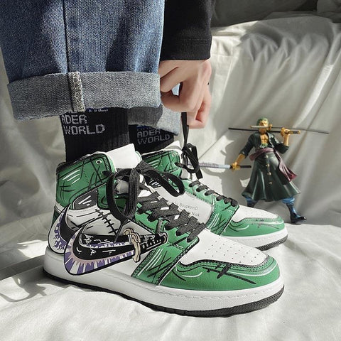 """RORONOA ZORO"" HIGH-TOP SNEAKERS"