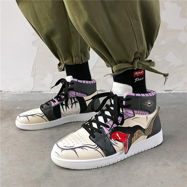 """OROCHIMARU"" HIGH-TOP SNEAKERS"