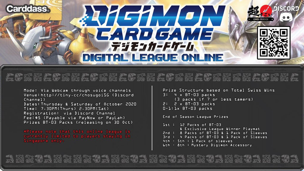 Results of Digital League Online for 8 Oct 2020!
