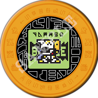 Digimon Pixel Art Acrylic Memory Token 「 メモリートークン」