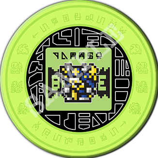 Digimon Pixel Art Ceramic Coaster 「デジモンコースター」