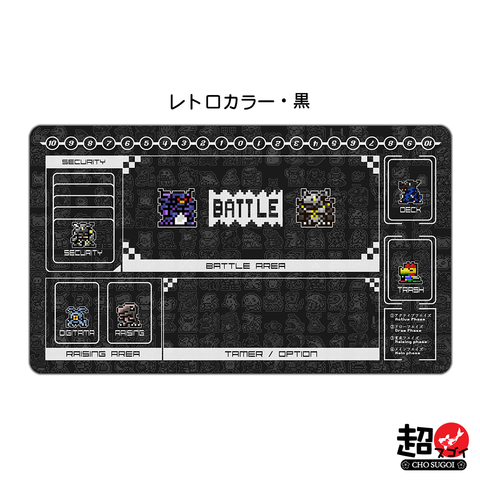 Digimon Card Game Retro Color Black Playmat [Free Shipping] *PRE-ORDER*