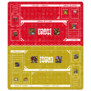 Digimon Card Game Retro Color Twin Playmat Red & Yellow [Free Shipping]