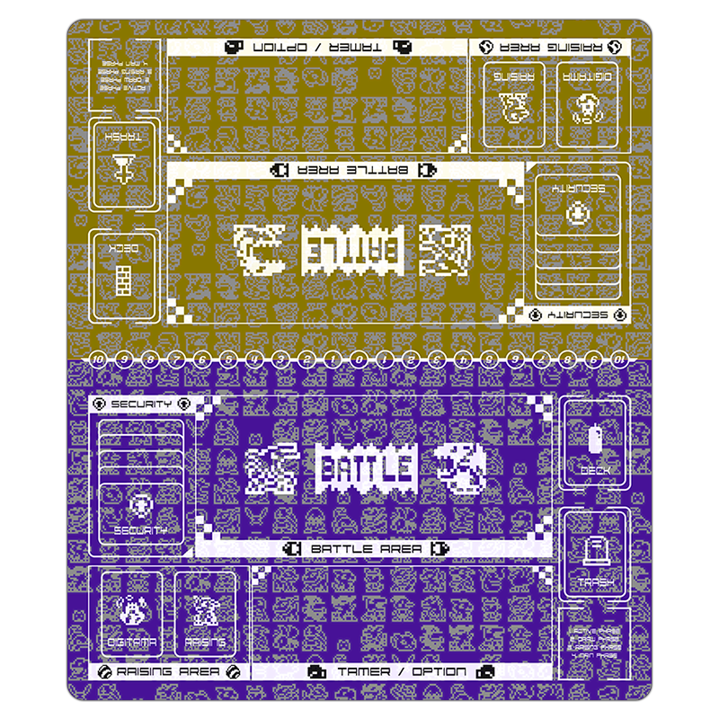 Digimon Card Game Retro Series Twin Playmat Purple & Yellow [Free Shipping]