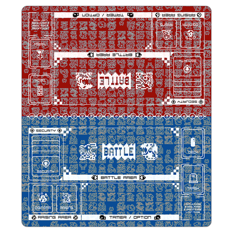 Digimon Card Game Retro Series Twin Playmat Red & Blue [Free Shipping]