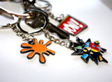 "Enamel Key Chain ""SPLAT"""