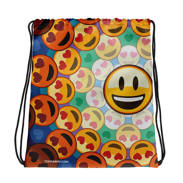 "Drawstring Backpack ""EMOJI MANDALA"""