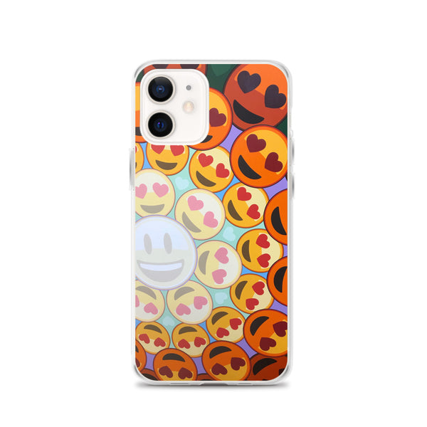 "iPhone ""AHAVA #1"" Emoji Mandala Phone Case"