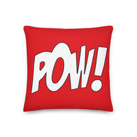 "Throw Pillow ""POW!"""