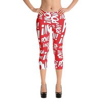 """LOTS-O-POW!"" Yoga Capri - Adult"