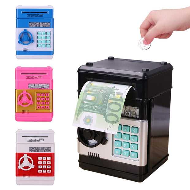 Automatic Password Piggy Bank - Cash & Coins Savings