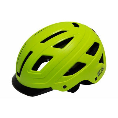 qt cycle tech helm urban style fluo maat m 52-58 cm 2810390