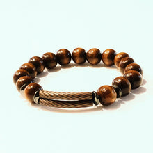 Load image into Gallery viewer, Mahogany Double Brass Bar Bracelet