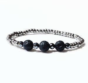 Vibranium Collection Volcanic Stone Bracelet